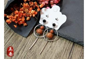 龍宮舍利設計款耳環/耳針四件組 Y03