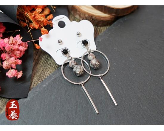 龍宮舍利設計款耳環/耳針四件組 Y04