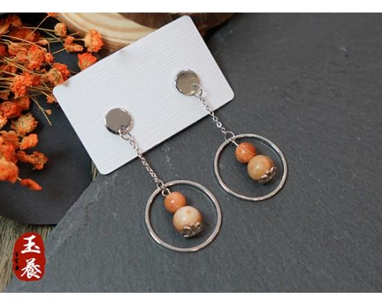 龍宮舍利設計款耳環/耳針式 Y06