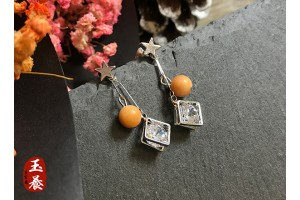 龍宮舍利設計款耳環/耳針式 Y17