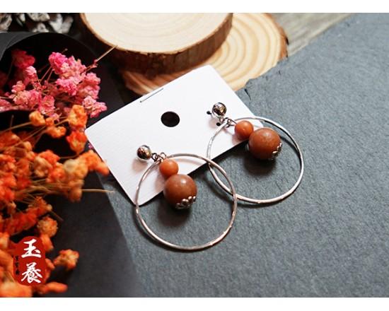 龍宮舍利設計款耳環/耳針式 Y18