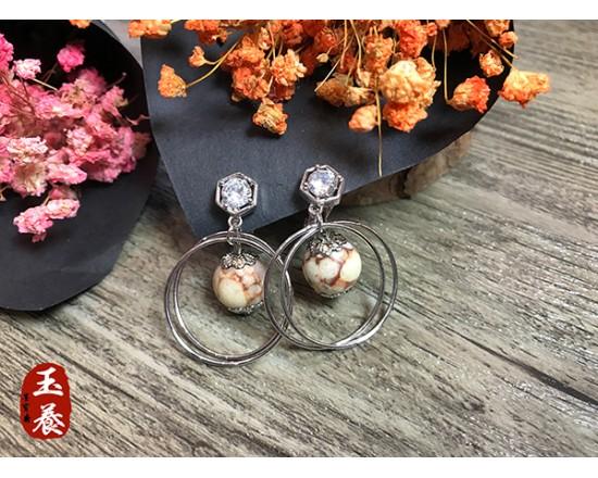 龍宮舍利設計款耳環/耳夾式 Y20