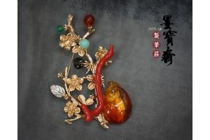 珊瑚胸針8