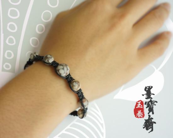 1.「佳人珠璣」手工編織手環-圓滿如意1