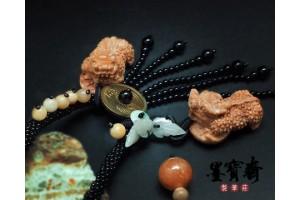 【招財貔貅】天然龍宮舍利項鍊 ZA-29