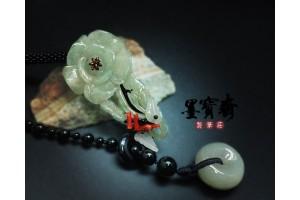 「清雅山茶」天然緬甸玉項鍊